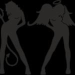 ангел и демон девушки1 16х11